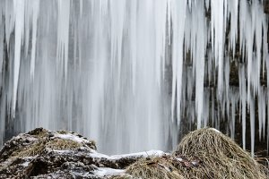 Icicles and a waterfall