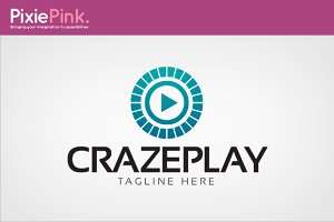 Craze Play Logo Template