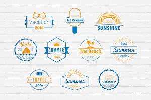 Summer Badges Logos