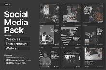 Social media pack for creatives