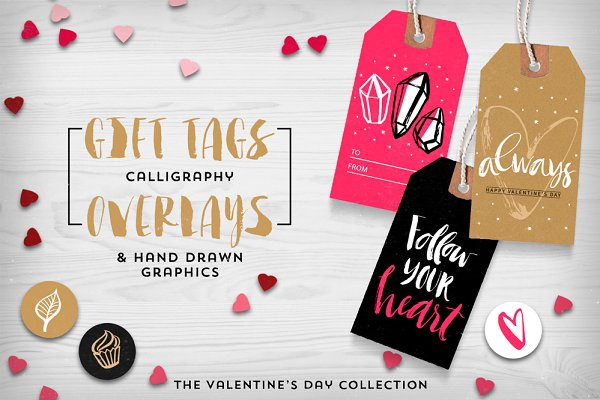 Valentine's day gift tags & overlay…