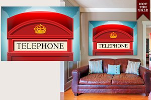 English Red Telephone Cabin