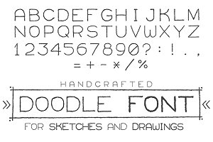 Doodle sketch handwritten font