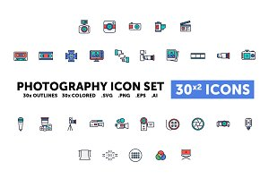 Photography Icon Set - 30(x2) Icons