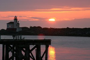 Coquille River Lighthouse Sunset