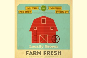 Poster for Organic Farm Food