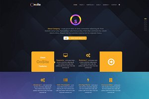Onsite One Page Joomla Template