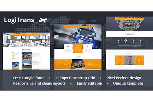 LogiTrans — Transport PSD Template
