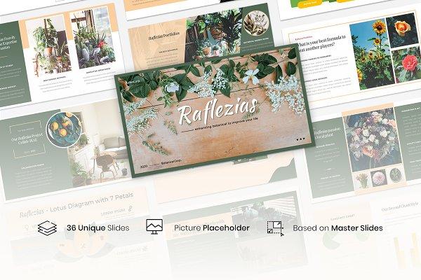 Raflezias Creative Business Pptx Creative Presentation Templates Creative Market