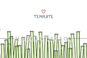 Template background with bamboo