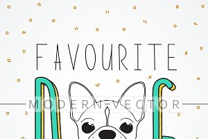 French bulldog design background