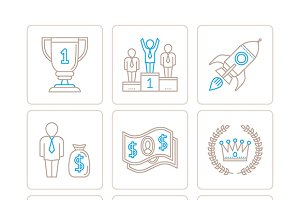 Business iconset lineart style