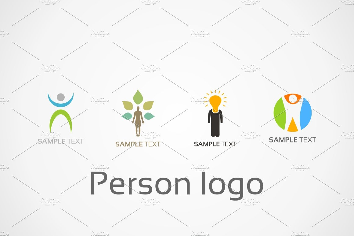 Person Logo Logo Templates Creative Market