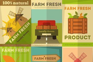 Set of Posters Farm Fresh