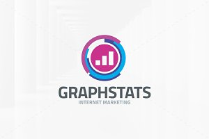 Graph Stats Logo Template