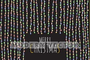 Bright garland. Festive background