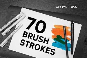 70 Acrylic Vector Strokes