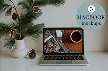 Minimal Macbook Mockups by  in Mockups