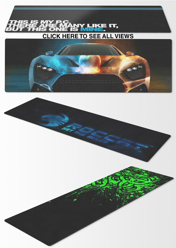 Mousepad Mockups - 29.4x92 - 1 in Product Mockups - product preview 4