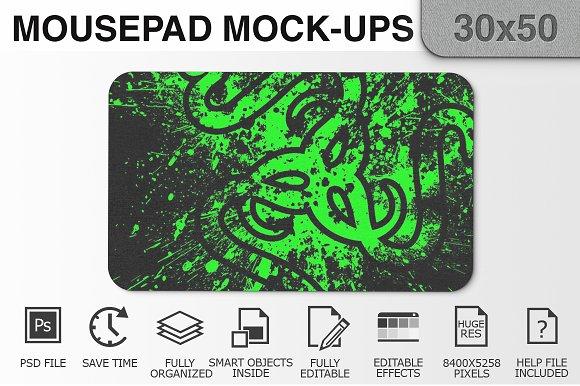 Mousepad Mockups - 30x50 - 2