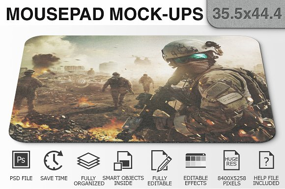 Mousepad Mockups - 35.5x44.4 - 2 in Product Mockups