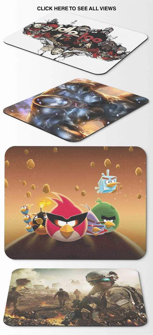 Mousepad Mockups - 35.5x44.4 - 2 in Mobile & Web Mockups - product preview 6