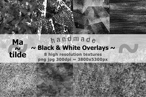 Handmade Black & White Overlays