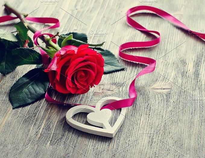 Romantic rose, St. Valentine Day - Holidays