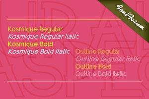 Kosmique Outline Italic