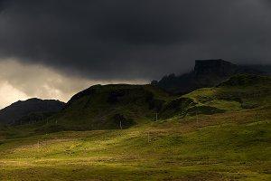 Quiraing mountains, Skye, Scotland