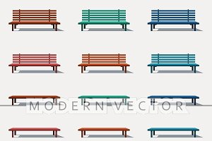 Set different tipes of benches