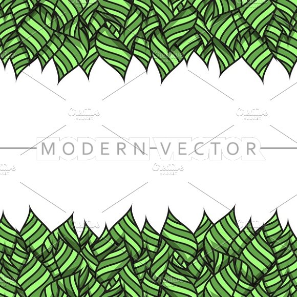 Template design with leaves