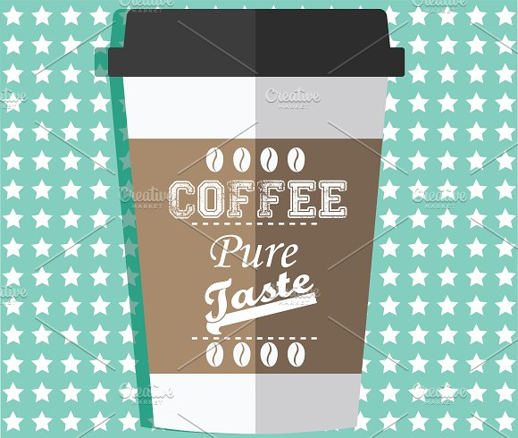 Take away coffee cup in Illustrations