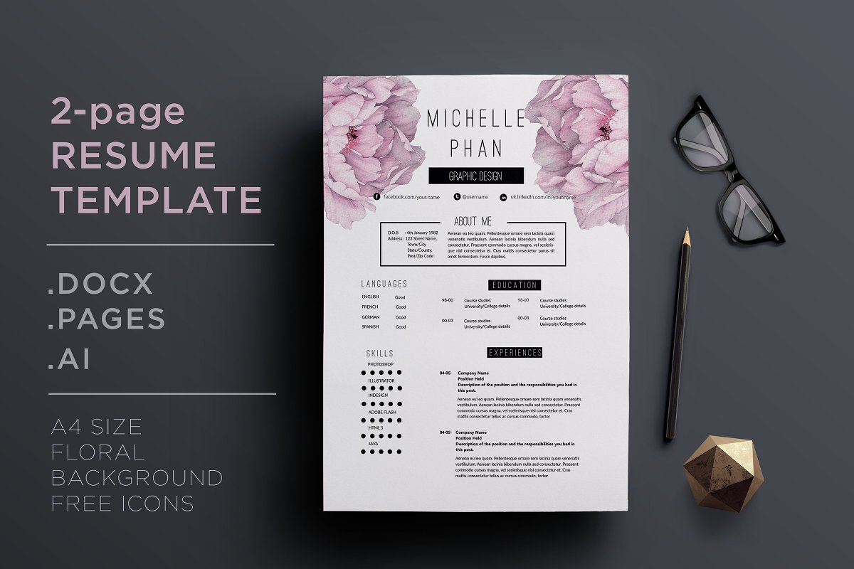 2 page resume template +cover letter ~ Cover Letter ...