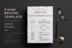 Elegant 2 page CV template