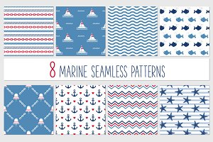 Sea seamless patterns
