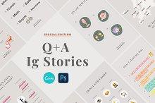 Q+A Stories Templates