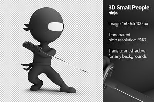 3D Small People - Ninja