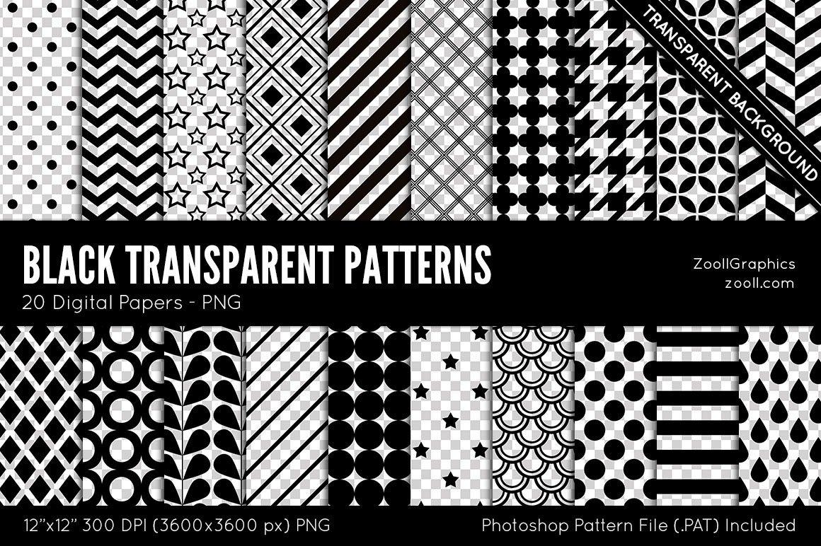 Transparent Patterns Magnificent Decorating