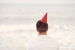 Lonely birthday beach party