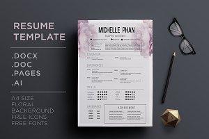 CV template + cover letter