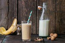 Milk Banana smoothie