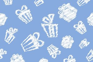 Gift pattern background