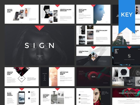 SIGN Presentation with Images Presentation Templates on Creative – Presentation Template