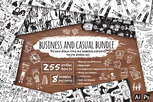 Vector business and casual bundle