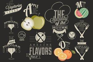 Retro vintage style menu design