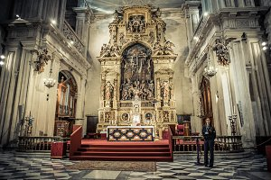 Indoors of Seville Cathedral #1
