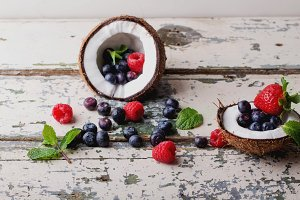 Berries in Coconut