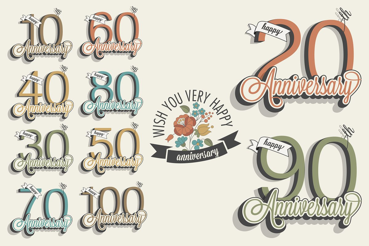 Anniversary greeting card collection