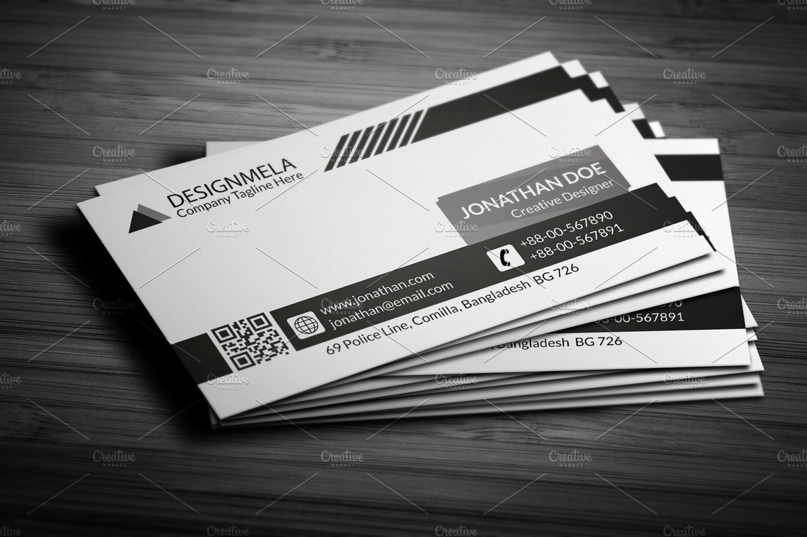 Black & White Creative Business Card ~ Business Card Templates ...